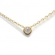 Brillantcollier in Gelbgold