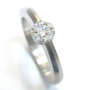 Feiner Platin-Brillant-Damenring-Engagement Ring