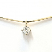 Klassiches Brillantcollier in Gelbgold